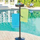 Freestanding Resin Wicker Towel Bar