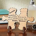 Perfect Match Personalized Wood Puzzle Piece Plaque