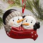 Engraved Snowman Couple Ornament