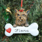 Yorkshire Terrier Personalized Pet Ornament