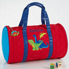 Dinosaur Embroidered Duffel Bag