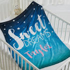 Personalized Sweet Dreams Fleece Baby Blanket
