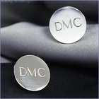 Personalized Silver Round Cuff Links