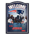New England Patriots Personalized Welcome Sign