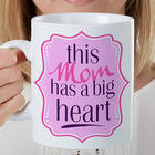 Big Heart Personalized Mega Coffee Mug