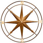 Vintage Style Compass Metal Wall Art
