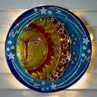 3D Lighted Sun and Stars Recycled Oil Drum Lid Wall Art