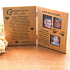 Grandma's Love Wooden Greeting Card Photo Frame