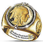 $5 Indian Head Proof 24 Karat Gold Plated Ring
