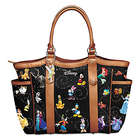 Disney Tote Bag with Character Art and Tinker Bell Charm