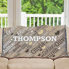 Personalized Family Name Word-Art Tapestry Throw