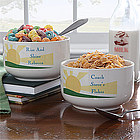 Personalized Rise & Shine Cereal Bowls