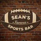Football Fan Personalized Sports Bar Sign