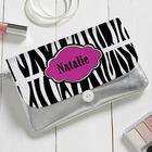 Personalized Animal Print Top-Zippered Wristlet