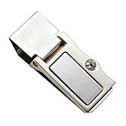 Personalized Money Clip with Stone