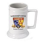Personalized Bachelor Party Survivor Beer Stein