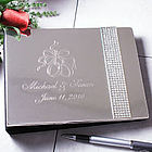 Personalized Glitter Galore Wedding Guest Book