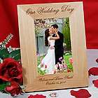 Personalized Wedding Day Wood Picture Frame