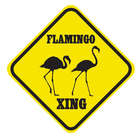 Crossing Flamingo Sign