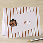 Cartoon Graphics Personalized Note Cards for Kids
