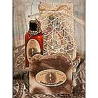 Fragrant Soap and Lotion in Sinamay Gift Bag