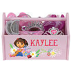 Dora the Explorer Flowers Pink Toy Caddy