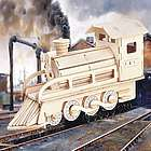 Steam Train 3D Jigsaw Woodcraft Puzzle Kit