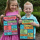 Personalized First Day Of School Dry Erase Sign