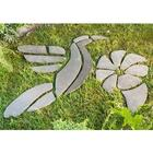 Hummingbird with Flower Decorative Garden Stones