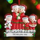 Personalized Pajama Family Ornament
