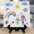 Kid's Personalized Art 8x8 Table Canvas Art Print