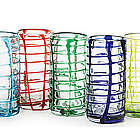Woven Colored Ribbon Glasses