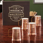 Koln Copper Beer Tankards in Vintage Brewery Gift Box