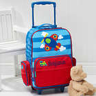 Boy's Personalized Airplane Rolling Luggage
