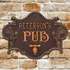 Hops & Barley Personalized Beer Pub Plaque