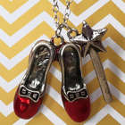 The Oz-some Power of Shoes Ruby Slippers Necklace