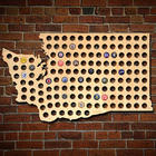 Giant Extra Large Washington Beer Cap Map