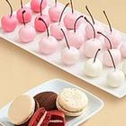 4 Classic Macarons and 20 Hand-Dipped Ombre Cherries