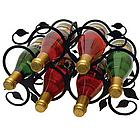 Six Bottle Leaf Wine Rack