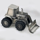 Pewter Bull Dozer Bank