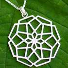 Puzzling Bloom Sterling Silver Floral Necklace