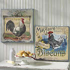 "20"" Farmhouse Chicken Advertisement Style Prints"