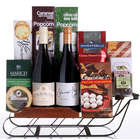 Winter Wine Carriage Gift Basket