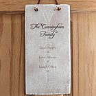 Personalized Live, Laugh, Love Family Wall Plaque