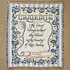 Embroidered Graduate Tapestry Throw Blanket