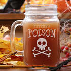 Personalized Poison Halloween Mason Jar