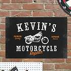 Personalized Motorcycle Repair Sign