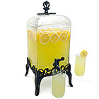 Paris Hammered Glass Beverage Dispenser