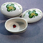 Four Leaf Clover Porcelain Box