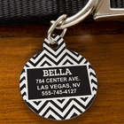 Personalize Chevron Pet ID Tag